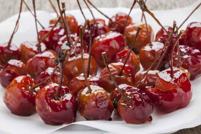 candied crabapples