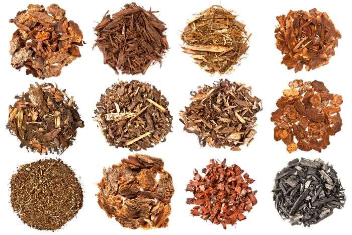 types of bark mulch
