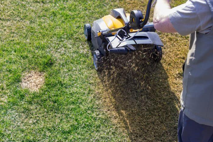 how to make grass green fast step 4 aerate and dethatch